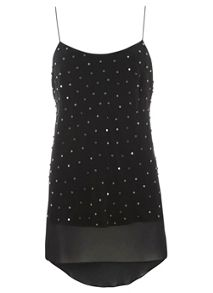 Black Stud Double Layer Camisole