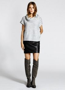 Grey Kylie Nubuck Long Boots