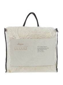 Baroque jacquard quilted cushion filled cream