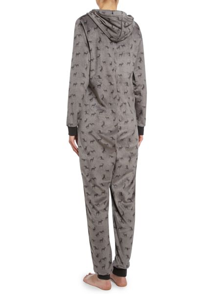 Therapy Deer fleece onesie