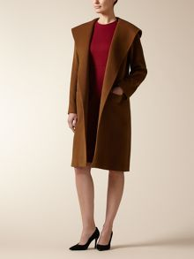 Hooded Wrap Coat