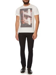 Abstract Poppy Stem Graphic T-Shirt