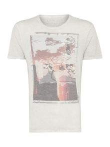 City Dream Window Reflection Graphic T-Shirt