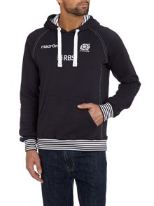 Scottish Rugby Overhead hoody with stripe cuff detail