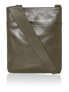 Pocketbag medium green crossbody leather bag