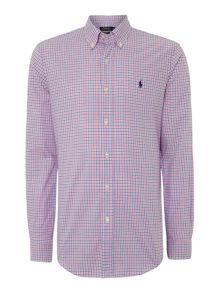 Multi Gingham Long Sleeve Slim Fit Shirt