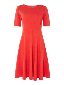 Fit and Flare Sleeved Dress