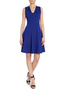 Fit and Flare Open Neck Dress