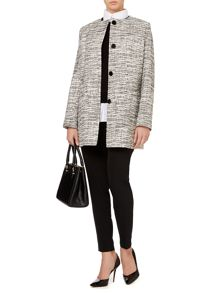 Monochrome textured coat