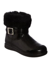 Kid`s sheepskin cuff boot