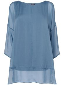 Elysia silk and jersey blouse