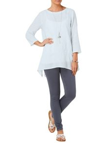 Una textured linen blouse