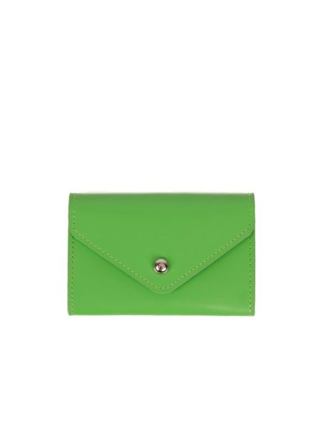 Paper Thinks Green leather small card envelope