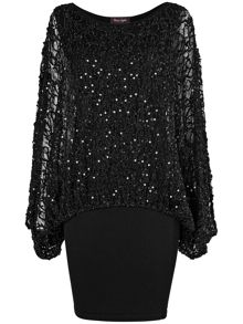 Serrina sequin knit dress
