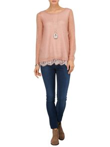Liz lace trim jumper