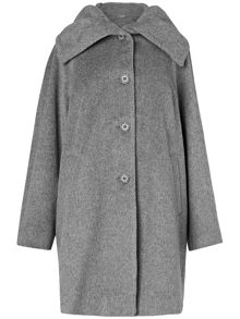Josie ruched collar coat