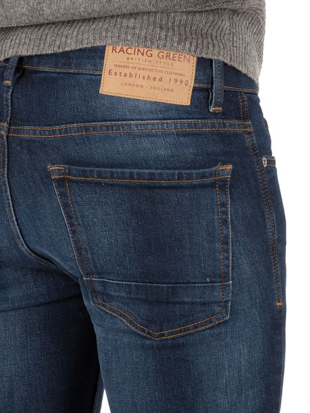Racing Green Marr slim fit stretch stone wash jeans