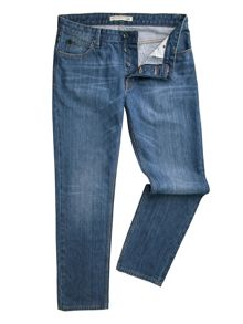 Dene Straight Fit Blue Wash Jeans