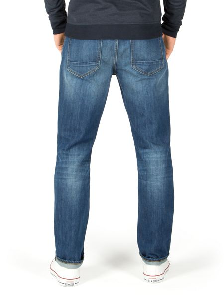 Racing Green Dene Straight Fit Blue Wash Jeans