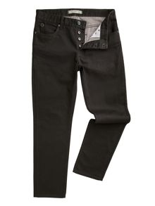 Dene straight fit black jeans