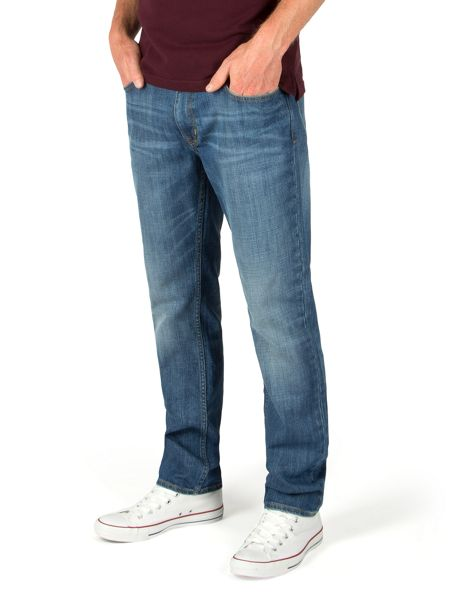 Racing Green Marr slim fit blue wash jeans