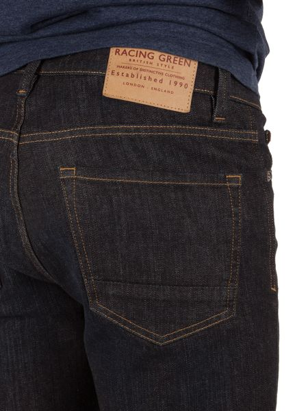 Racing Green Marr slim fit raw rinse jeans