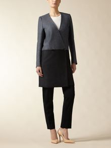 Wool Colour Block Coat