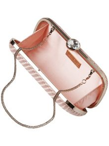 Anita satin weave crystal clutch bag