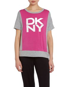 DKNY Mix and match short sleeved jersey top