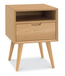Linea Hoxton 1 drawer with shelf bedside chest