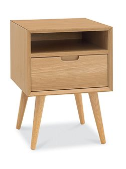 Hoxton 1 drawer with shelf bedside chest