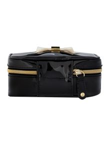Black small bow jewellery case