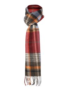 Bright country plaid scarf