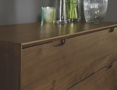 Linea Hoxton walnut 3 drawer wide chest