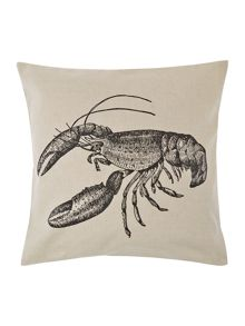 Lobster print cushion
