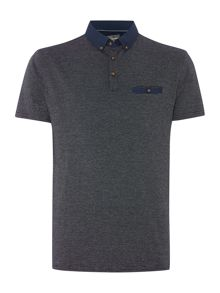 Sterling Woven Collar And Pocket Jacquard Polo