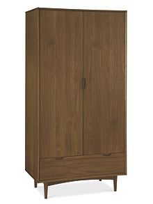 Hoxton walnut double wardrobe