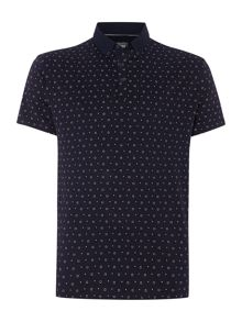Albany Square Geo Print Polo