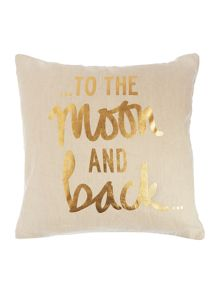 Gold print cushion