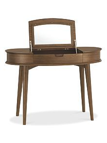 Linea Hoxton walnut dressing table