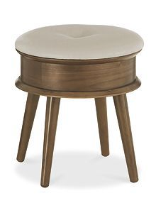 Linea Hoxton walnut Stool