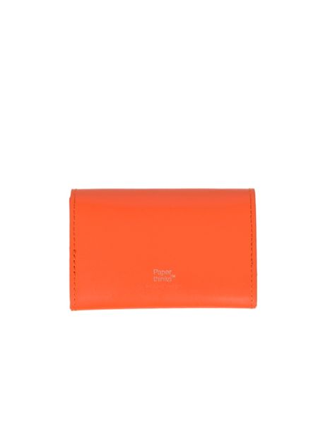 Paper Thinks Orange leather small card envelope