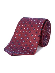 Craxley circle and diamond jacquard tie