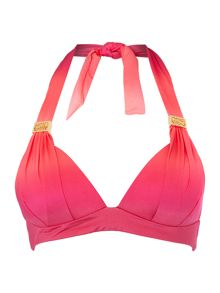 Ombre Sunset Goddess moulded halter bikini top