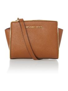 Selma specchio tan small cross body bag