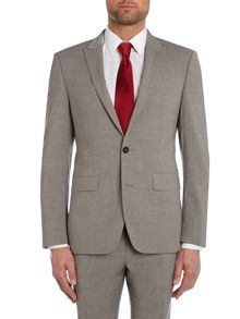 Simon Carter Melange Slim Fit Suit Jacket