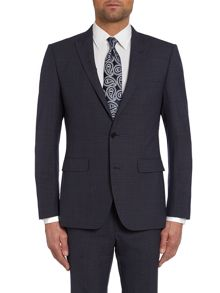Simon Carter Check Peak Lapel Slim Fit Suit Jacket