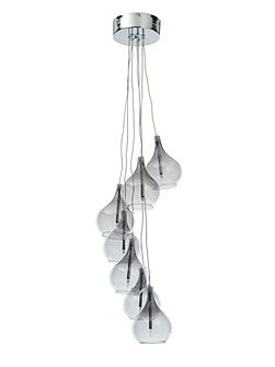 Fantasia smoked 7LT cluster pendant