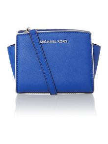 Selma specchio blue small cross body bag