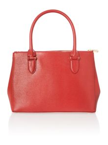 Red medium double zip tote bag